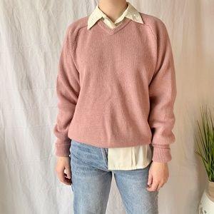 Ingo Vintage Grandpa Knit Sweater Pink Size Large